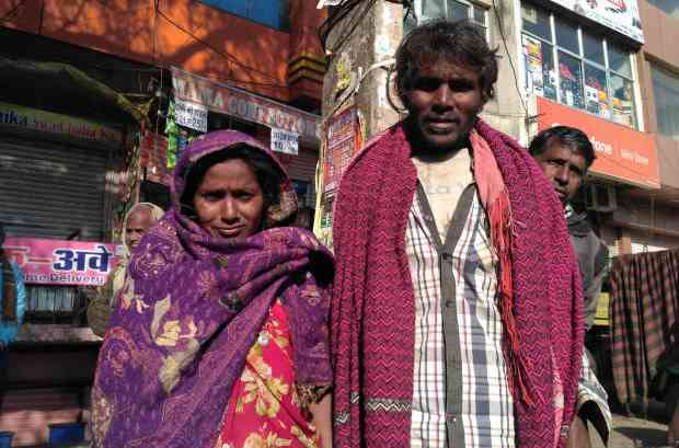 "Shanti Devi and her husband Babulal Saini–who sold their farm to pay a debt–now earn Rs 8,000 together, down from Rs 18,000 in 2017. ""Two years ago, we would get work for 25 days a month, but now we get only eight to 10 days of work a month,"" said Devi. Photo credit Madhav Sharma/IndiaSpend"
