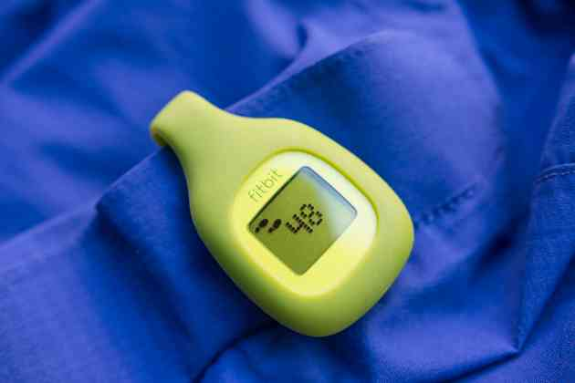 The tiny clip-on Fitbit Zip comes in green (shown), black, blue, and pink. Photo: Michael Hession