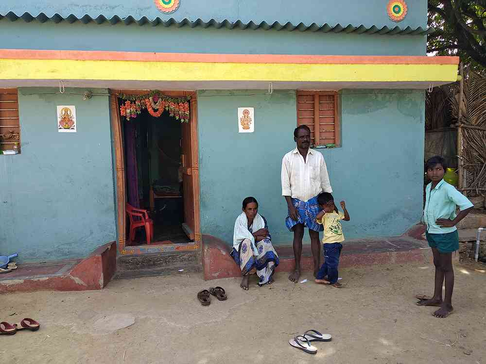 Nandish's parents at their home in Soodagondanahalli in Hosur.