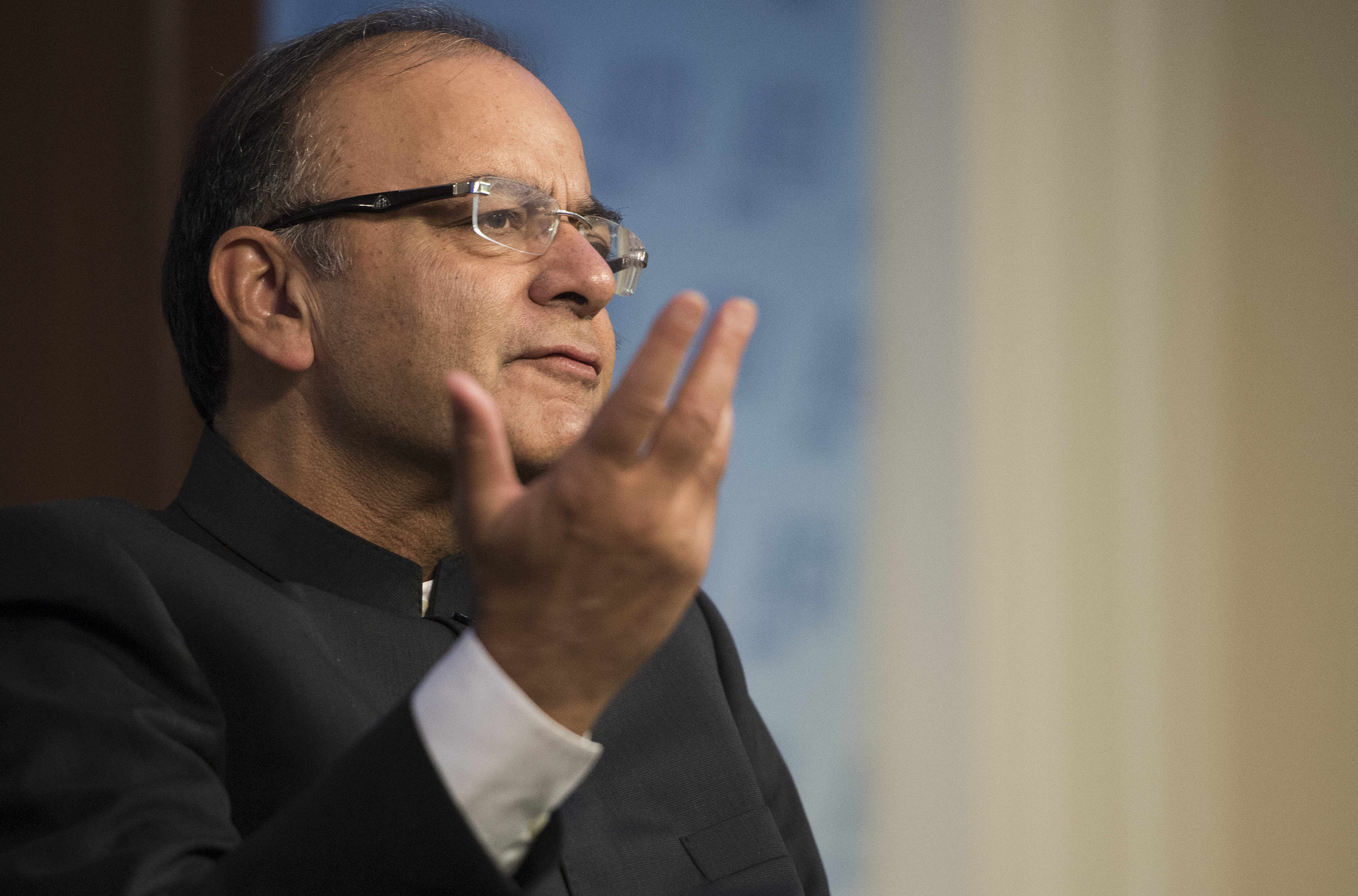 Finance Minister Arun Jaitley has conceded that the 5.7% GDP growth rate in the first quarter is a matter of concern. (Credit: Jim Watson / AFP)