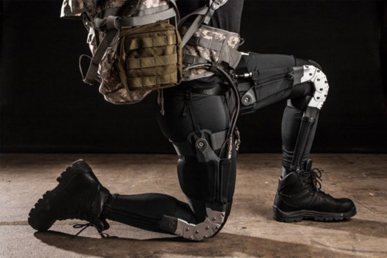 High-tech research developing exoskeletons that would help reduce injury and fatigue.  DARPA