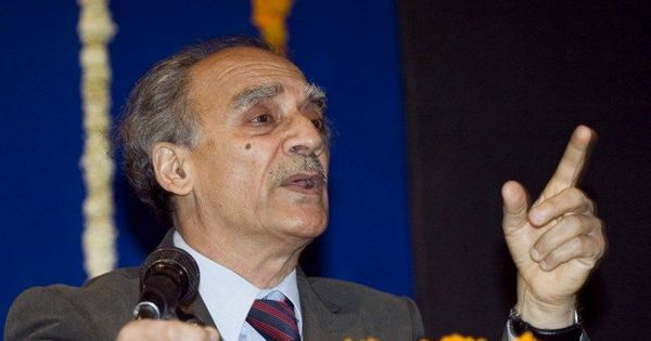 Rajasthan: Special CBI court orders criminal case against Arun Shourie for 2002 hotel sale