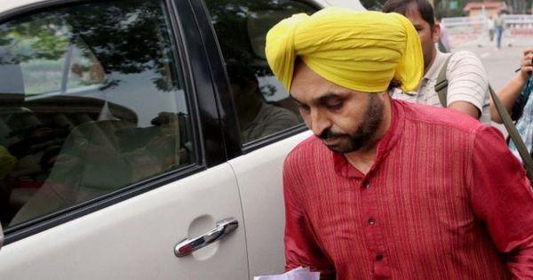 आम आदमी पार्टी के नेता भगवंत मान ने पंजाब इकाई के अध्यक्ष पद से इस्तीफा दिया