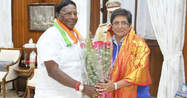 In latest tussle, Puducherry chief minister accuses Lt Gov Bedi of violating convention on MLA picks