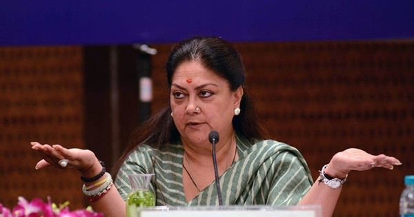 Ensure 'Padmavati' is not released without necessary changes: Rajasthan CM Vasundhara Raje to Centre