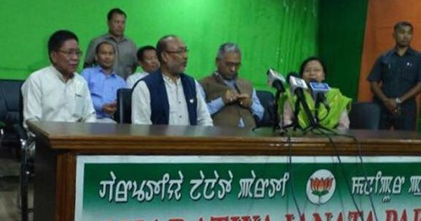 Manipur: Congress MLA Ginsuanhau Zou, 14 others party members join BJP