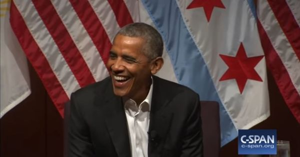 Watch: You definitely want to hear Barack Obama's witty first speech as ex-President of the USA