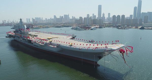 चीन ने अपना पहला स्वदेशी विमानवाहक जहाज समुद्र में उतारा