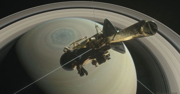 'Grand finale': Cassini spacecraft completes its first dive between Saturn and its rings