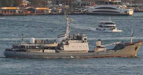 Russian intelligence ship collides with freight vessel, sinks off the coast of Turkey