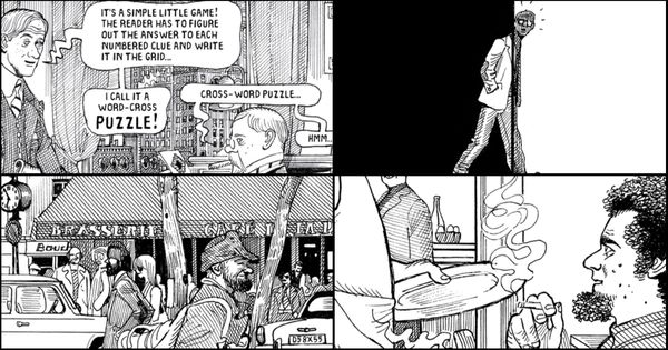 This thrilling graphic novel about crossword puzzles and spies is a little too clever at times