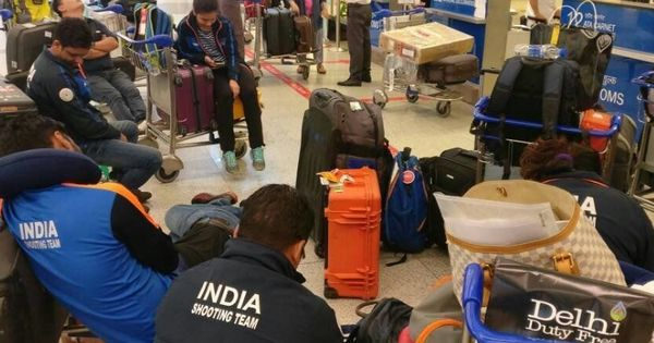 India's shooting team detained at Delhi's IGI airport for 13 hours after their guns are confiscated