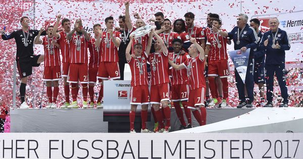 Bayern Munich lift trophy, Aubameyang claims golden boot on dramatic final day of Bundesliga