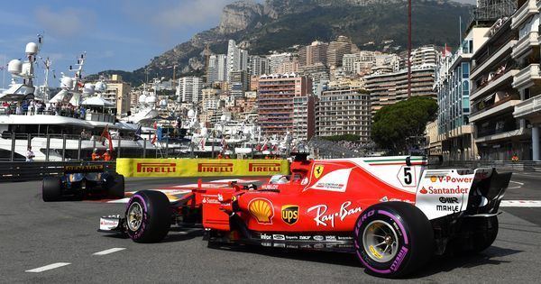 Vettel on top after second free practice session at the Monaco Grand Prix, Hamilton eighth fastest