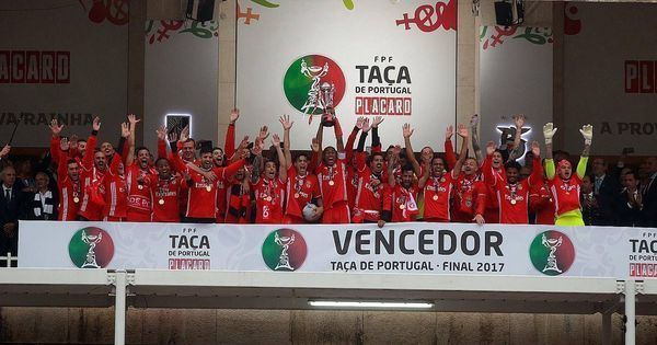 Benfica beat Vitoria 2-1 to lift Portuguese Cup, secure double