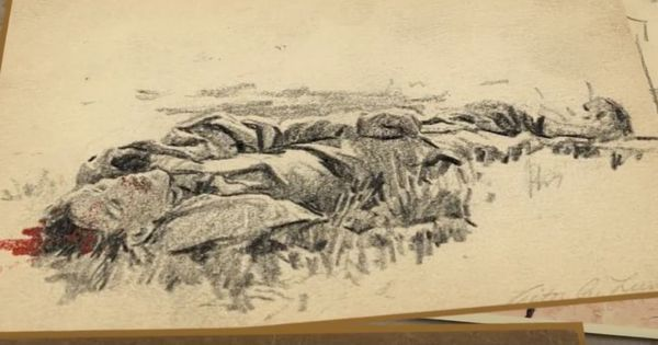 Watch: An American soldier's sketches of living through World War II are eye-opening