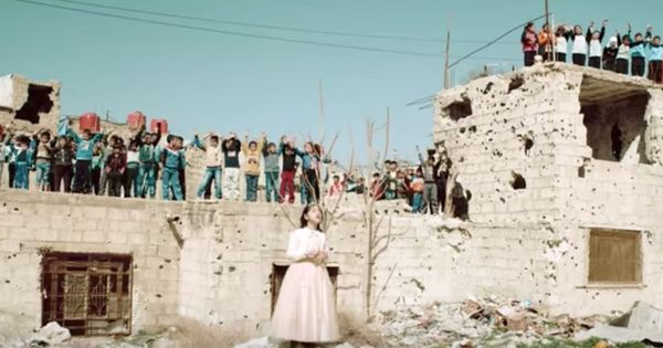 Watch: 'We want our childhood back', sing Syria's children amidst the devastation