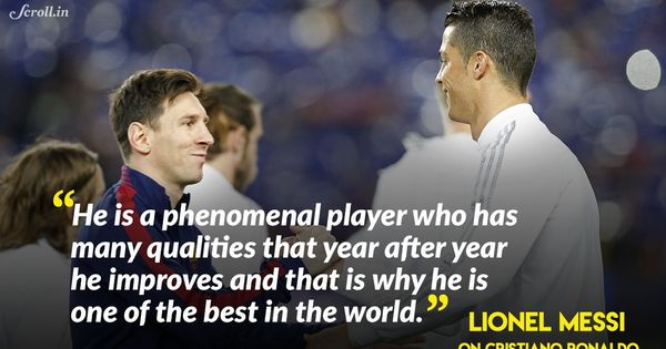 'He is a phenomenal player': Lionel Messi hails Cristiano Ronaldo's recent feats