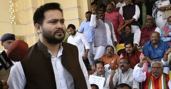 A tale of two videos: Did Tejashwi Yadav's  security staff manhandle mediapersons or didn't they?