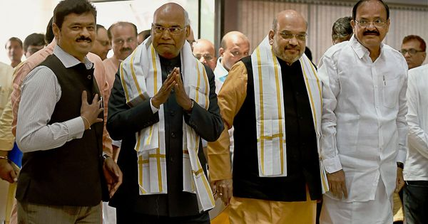 NDA's presidential pick Ram Nath Kovind files nomination papers at Parliament