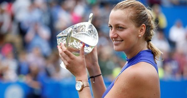 Six months after surviving knife attack, Petra Kvitova lifts WTA title in Birmingham