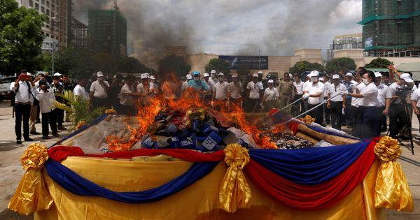 Myanmar, Thailand and Cambodia burn illegal narcotics worth around $1 billion