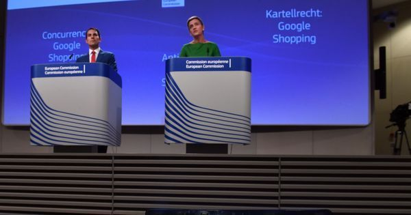 European Commission fines Google €2.42 billion for favouring its own search services