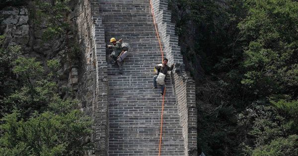 Watch: How China is using primitive methods to repair the Great Wall