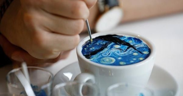 Watch: This man recreates paintings of Van Gogh and Munch on a cup of coffee in just 15 minutes