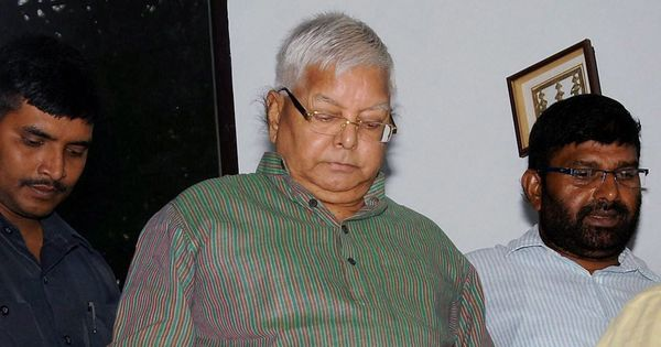 RJD chief Lalu Prasad Yadav complains of chest pain in jail, admitted to a Ranchi hospital