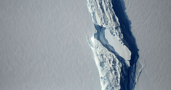 Antarctica: One of the world's biggest icebergs is about to break off from shelf
