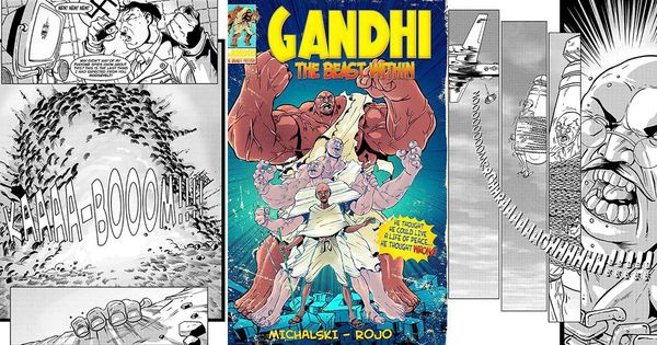 Meet Mahatma Gandhi, the Hulk-like superhero who fought Hitler, robots and dinosaurs