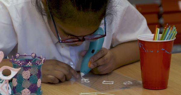 Watch: A special 3D-printing pen allows visually impaired children to draw for the first time