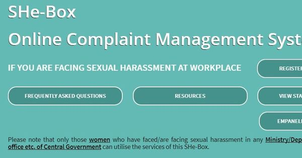 The Centre wants women to report sexual harassment at workplace on an online portal called 'SHe-box'