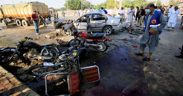 Suicide bombing in Lahore leaves at least 26 dead
