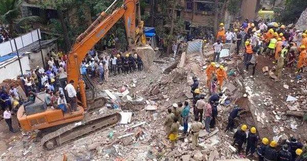 मुंबई : इमारत ढहने से मरने वालों का आंकड़ा 17 तक पहुंचा, शिवसेना कार्यकर्ता गिरफ्तार