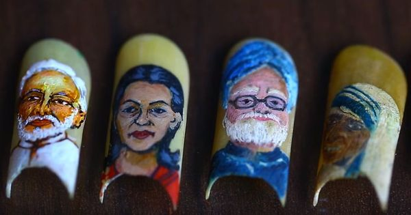 Watch: Narendra Modi and Mother Teresa come together on this artist's nails