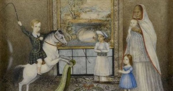 Paintings capture the life of an English doctor's family in Lucknow during the British Raj