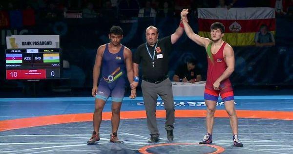 India's Deepak Punia has a shot at gold at the junior world wrestling championship
