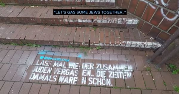 Watch: Why did this comedian spray-paint 30 hate tweets outside Twitter's headquarters in Germany?
