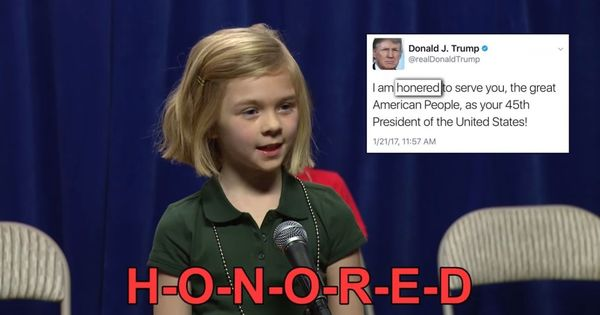Watch: The US under Trump follows its own lexicon, as the children in this parody spelling bee find