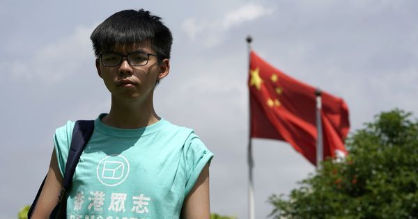 Hong Kong jails democracy activists Joshua Wong and two others