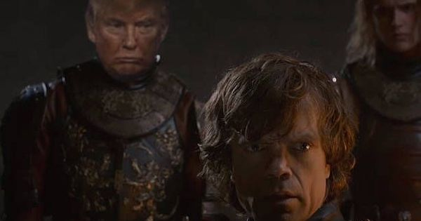 Watch: Happy Monday with Donald Trump in 'Game of Thrones'