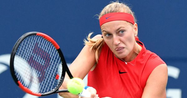Three-time champion Petra Kvitova stunned by Shuai Zhang in first round of Connecticut Open
