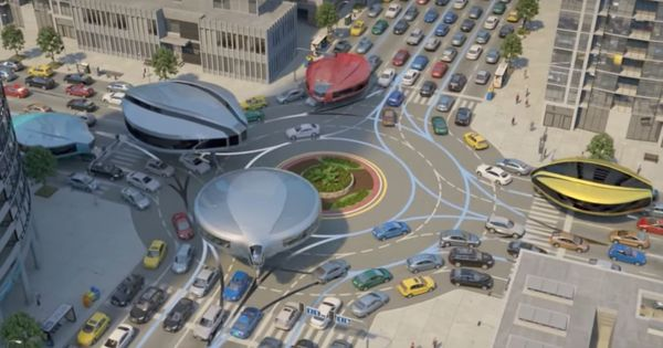 Watch: It looks like an alien invasion, but actually it's a plan for alternative city transportation