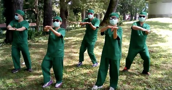 Watch: Can a group of dancing doctors persuade people to wash their hands?