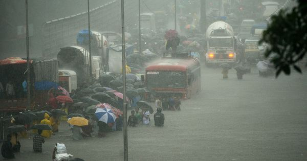 Mumbai rain: Weather Department sounds 'red alert' for more heavy showers in the next 48 hours
