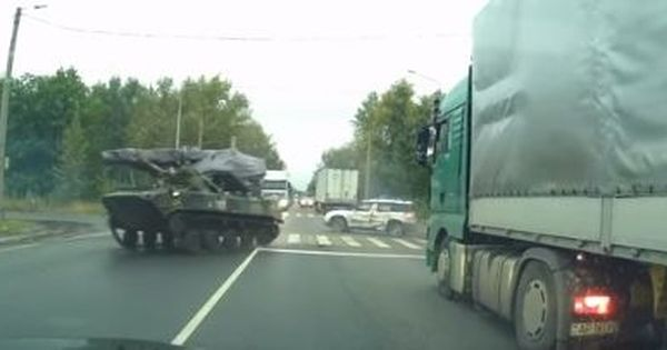 Watch: Why it's best not to let military armoured cars go out on a road with regular traffic