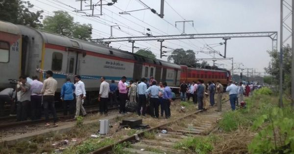 Engine, power coach of Rajdhani Express derailed near New Delhi, no injuries reported
