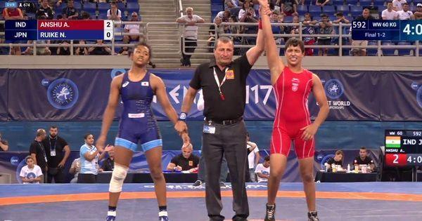India's Anshu wins gold in Cadet World Wrestling Championships